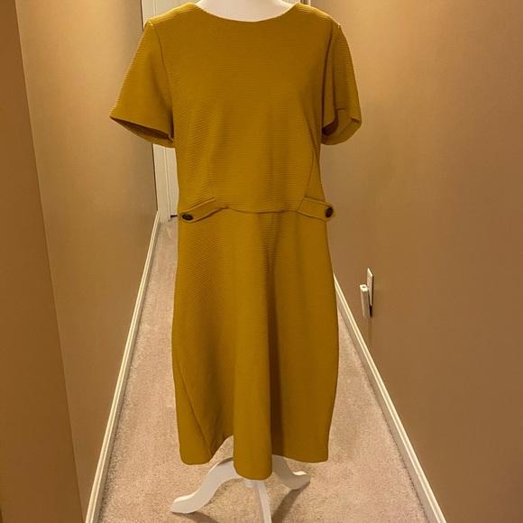 Boden Dresses & Skirts - BODEN MUSTARD YELLOW SHEATH DRESS SIZE 18L